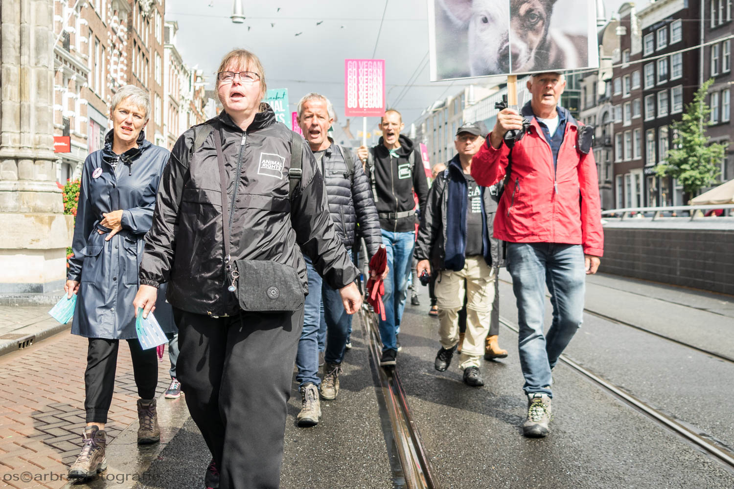 Animal Rights March Amsterdam Oscar Brak Fotografie