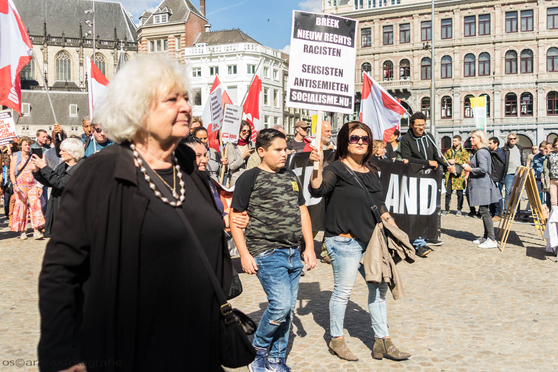 asielbeleid demonstratie dam amsterdam oscar brak fotografie