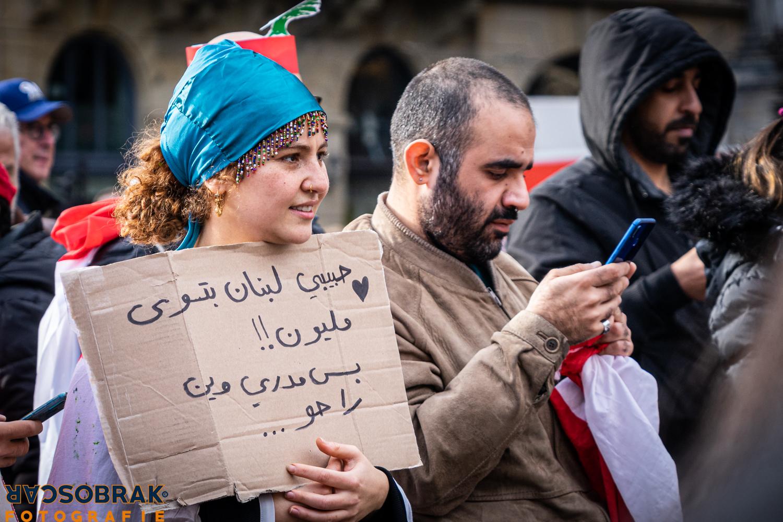 Libanon protest Amsterdam Oscar Brak Fotografie
