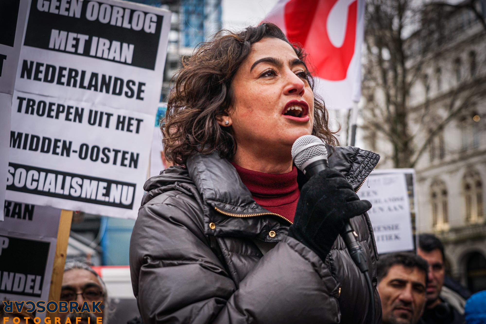 No war with Iran Amsterdam Spui Oscar Brak Fotografie