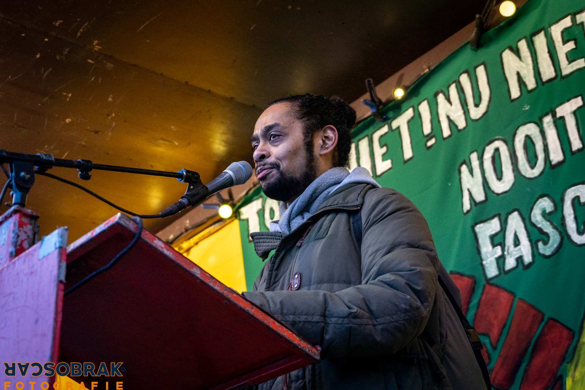 nooit meer fascisme demo westerpark amsterdam oscar brak fotografie