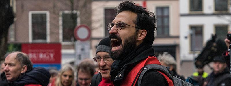 Rode hesjes Utrecht Neude links Oscar Brak fotografie