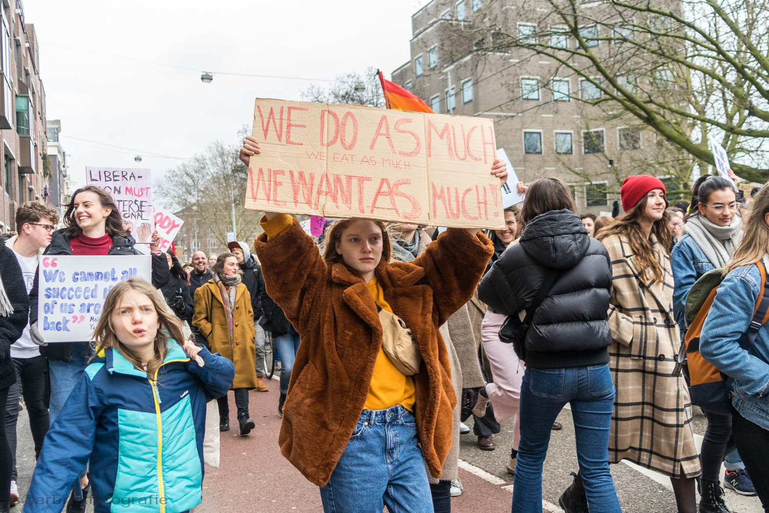 women's rights march amsterdam oscar brak fotografie