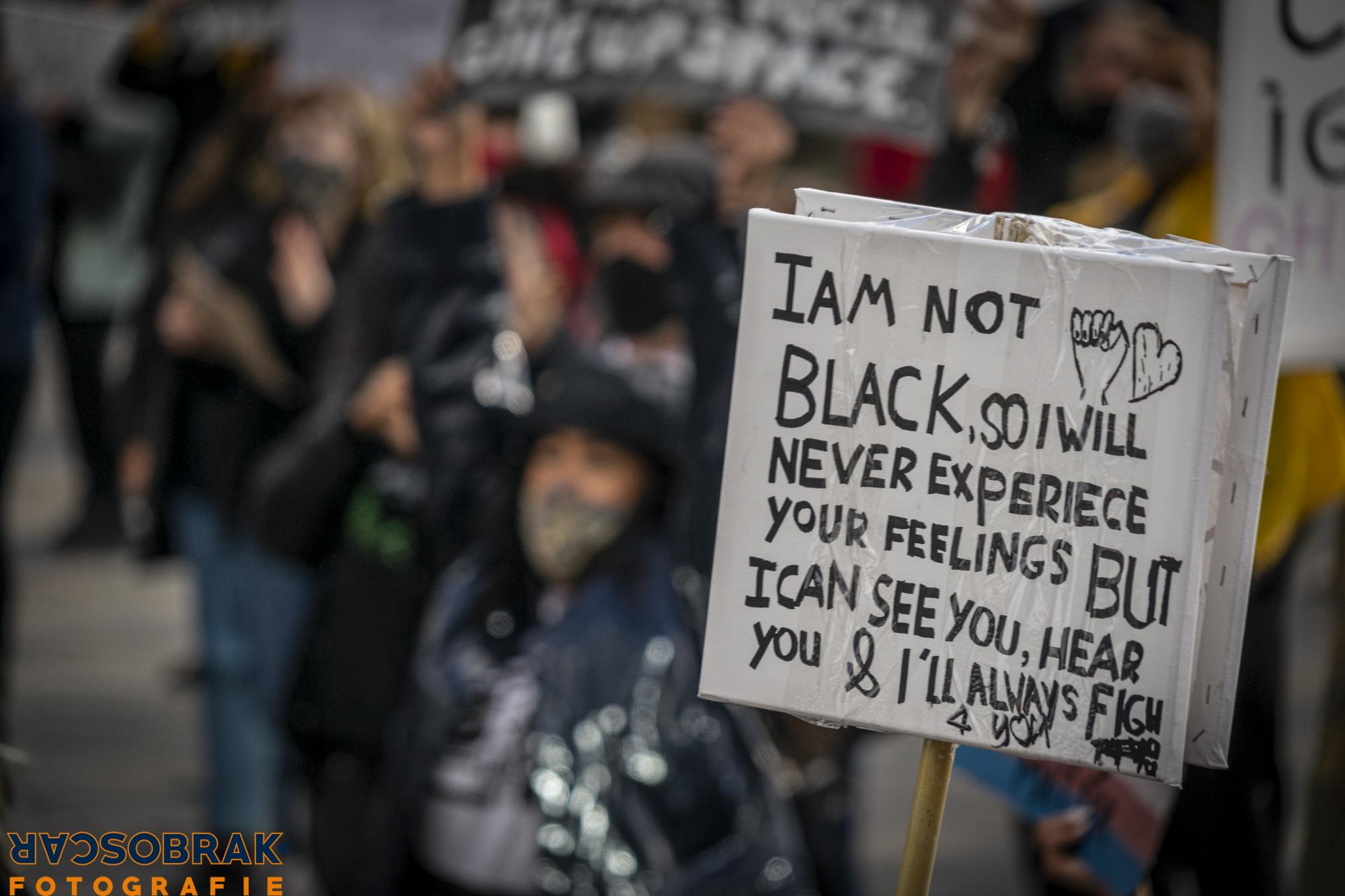 george floyd, black live matters, utrecht, demo, oscar brak fotografie