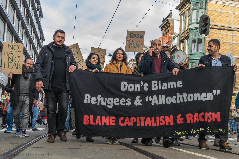 anti racisme demonstratie amsterdam oscar brak fotografie