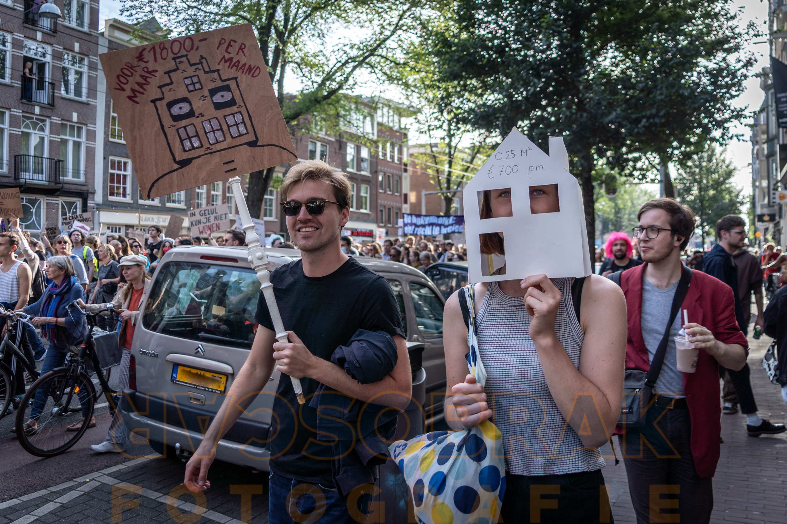 woonprotest housing protest amsterdam oscar brak fotografie photo