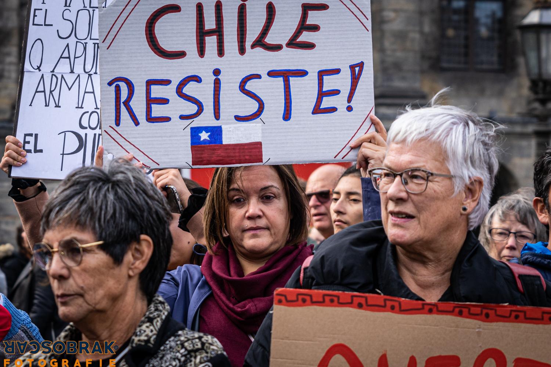 Chile protest Amsterdam Oscar Brak Fotografie